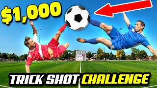 $1000 EPIC ANIME Trick Shots Challenge - Football and Soccer Pros Vs. Trick Shot Experts
