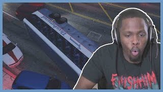 CRAZY BUS SHOOTOUT!! - GTA 5 Online PS4   Twitch Subscriber Lobby Part 48