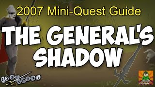 Runescape 2007 The General's Shadow Mini-Quest Guide