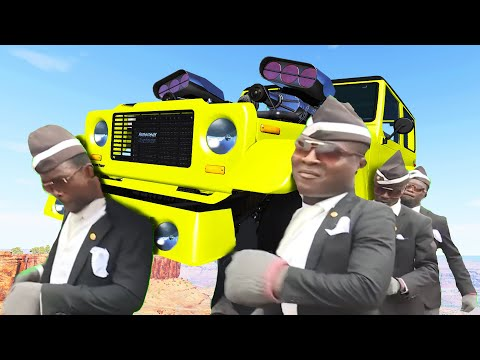 FUNERAL COFFIN DANCE MEME COVER #30 - Ghost Driver Edition - BeamNG Drive