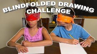 BLINDFOLDED DRAWING CHALLENGE!!!