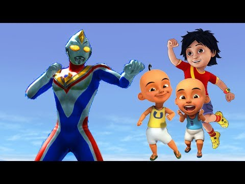 Upin Ipin Shiva antv VS ULTRAMAN DYNA super animasi cartoon movie feat ladybug nursery rhymes