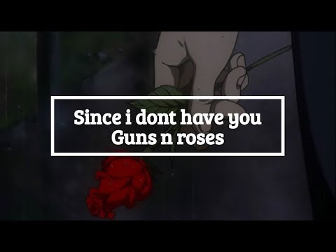 SINCE I DONT HAVE YOU/ Guns n' roses/ letra español-ingles