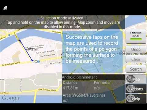 Video of Map Tools - GPS measure & area