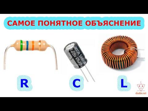 Резистор, конденсатор, катушка индуктивности, сравнение свойств в электрических цепях