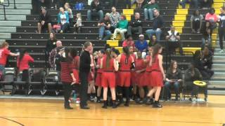 Liberty Redhawks Varsity Girls vs The Colony 01 29 2016