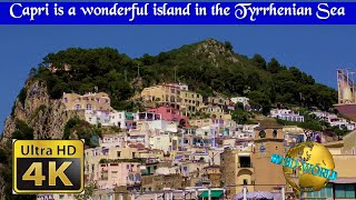 Capri is a wonderful island in the Tyrrhenian Sea - 4K 50p