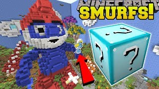 Minecraft: SMURFS HUNGER GAMES - Lucky Block Mod - Modded Mini-Game