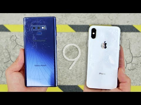 Galaxy Note 9 Vs IPhone X DROP Test! Durability King? Mp3