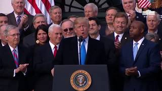 President Trump Tax Reform Bill Victory Speech