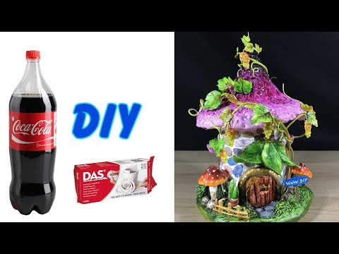 DIY Grapevine tree Fairy House Lamp Using Plastic Bottles and Das clay