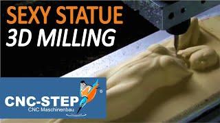 Kundenanwendung: Fräsen einer 3D Resin Statue in Echtzeit
