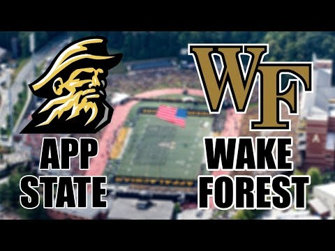 Appalachian State Mountaineers vs The Wake Forest Demon Deacons