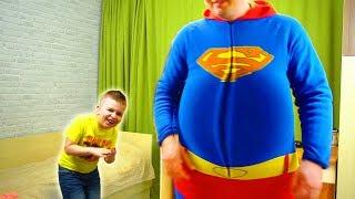 Папа РАСТОЛСТЕЛ!!! Матвей ЗАНИМАЕТСЯ спортом Видео для детей Video For Kids Матвей Котофей для детей