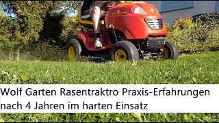 """Rasentraktor von Wolf Garten und """"Hebebühne"""" - Erfahrungen nach 4 Jahren im Einsatz"""