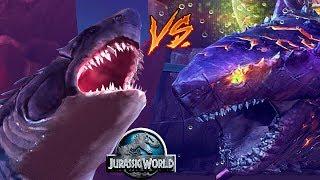 Битва Акул Мегалодон против Колосса 04 Jurassic World The Game прохождение на русском