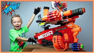 GIANT Nerf Gun Combos made from our Nerf Arsenal | Bro vs Bro Challenge building BIGGEST Nerf