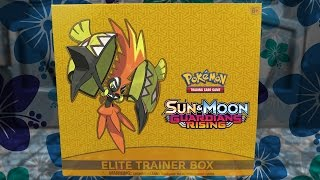 OPENING A POKEMON GUARDIANS RISING ELITE TRAINER BOX OF POKEMON CARDS!!! by The Pokémon Evolutionaries