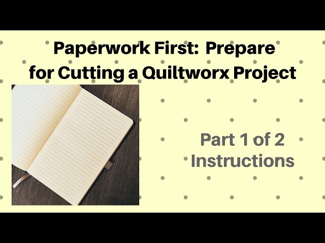 Paperwork First: Part 1 of 2