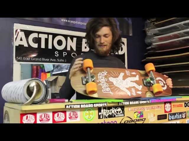 Action Board Shop Reviews the Landyachtz Tug Boat Longboard Skateboard