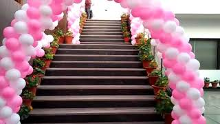 White & Pink Theme Decoration For Adults Birthday Parties 09891478183 In Gurgaon Golf Course Area