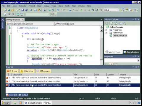 Debugging And handling exception in Asp,net And C# sharp