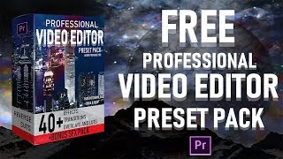 adobe premiere pro preset pack 40 video effects transitions free