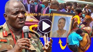Gen Katumba Wamala Akabye Amaziga nga Alabye Body ya Muwala we