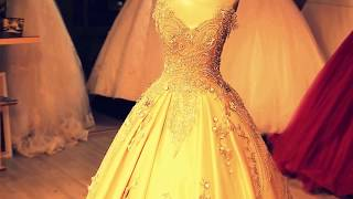 Best  Wedding Dress , Salmon Colored, Beaded Lace , Luxurious And  Attractive Lace