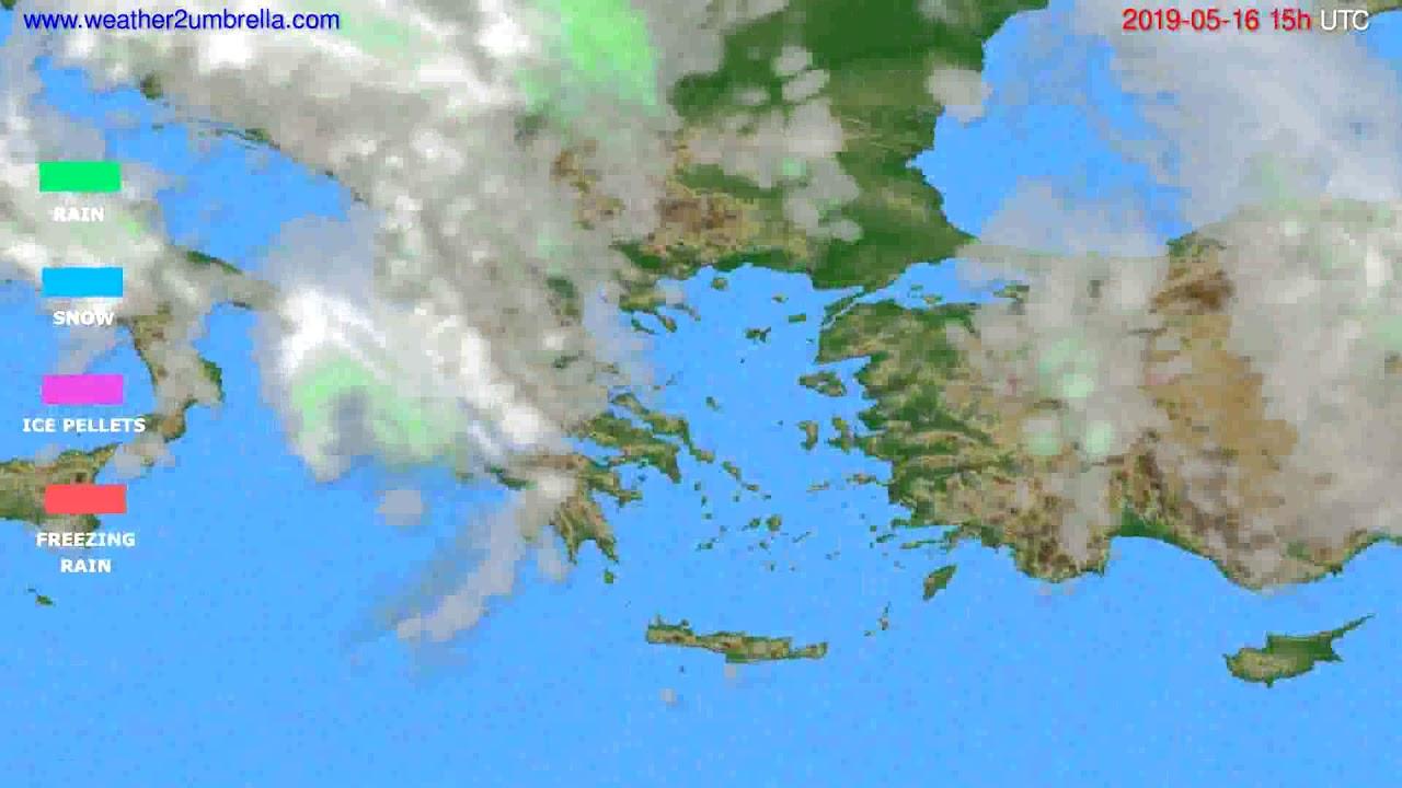 Precipitation forecast Greece // modelrun: 12h UTC 2019-05-13