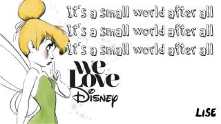 We Love Disney Artists - It's a Small World (Lyrics)