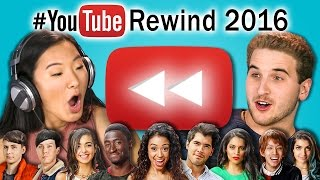TEENS REACT TO YOUTUBE REWIND 2016