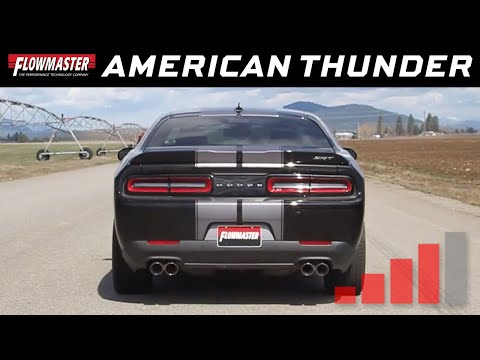 2015-20 Challenger Hellcat 6.2L, SRT 6.4L - American Thunder Cat-Back Exhaust System 817739
