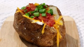 how to make a baked potato in the oven quickly
