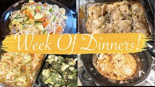Week of Dinner Ideas!  Yum Yum on the Kick Drum! What's for Dinner!