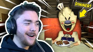 Having Dinner WITH THE ICE CREAM MAN!!! | Ice Scream Mobile Horror Gameplay