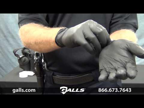 Dyna Med Black Nitrile Gloves at Galls  - GL259