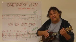Fingerstyle Ukulele Lesson #39: Riffs, Intros &  Songs (#5) : SEVEN NATION ARMY  HIT THE ROAD