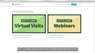 Creating an Account for Virtual Events