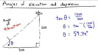 Angles Of Elevation And Depression In Word Problems