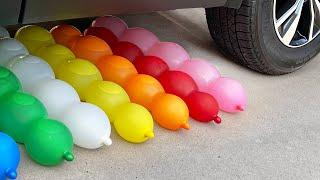 Top 36 Crushing Crunchy & Soft Things by Car | Car vs Soda, Foam, Chalk, Eggs, Water Balloons
