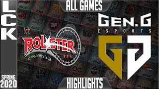 KT vs GEN Highlights ALL GAMES | LCK Spring 2020 W9D1 | KT Rolster vs Gen.G