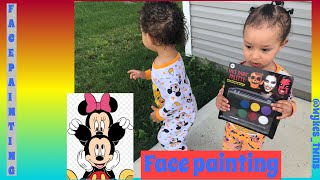 FACE PAINTING FAIL | Mickey And Minnie Face Paintings