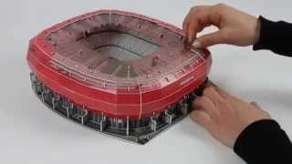 Nanostad 3D Allianz Arena München Rot Tutorial [deutsch]
