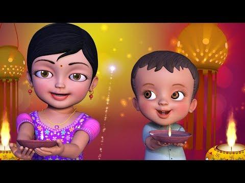 சந�தோஷம� பொங�கிட�ம� தீபாவளி | Tamil Rhymes for Children | Infobells