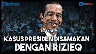 Kunjungan Jokowi yang Timbulkan Kerumunan Warga Disorot, Bandingkan dengan Kerumunan Rizieq Shihab