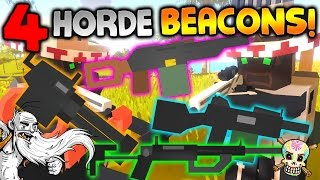 "GangZ Unturned Gameplay - ""FOUR HORDE BEACONS W/ EPIC LOOT!!!"" - Unturned PvP Multiplayer"