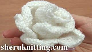 Knit Rose Flower Pattern Tutorial 13 Patrones que hacen punto de flores
