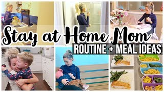 STAY AT HOME MOM ROUTINE + MEAL IDEAS // SAHM MOM OF 3 // TODDLER & BABY SCHEDULE