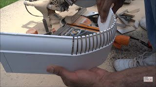 How to bend skirting around a 90 degree bend using a kerf cut